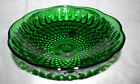 Estate  Vintage Footed Emerald Irish Green Dish, 6-1/2