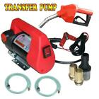 Electric Diesel Oil Transfer Pump 12V 10GPM DC Fuel Kerosene Extractor +Pump Gun