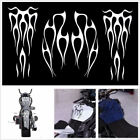 Waterproof White Motorcycle ATV Fuel Tank & Fender Flame Vinyl Decal Sticker Kit