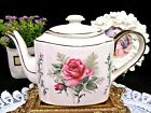 ARTHUR WOODS  teapot stunning full size  large pink center rose pot England