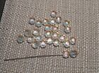 25 pieces 8mm 5111 Swarovski Vintage Crystal Flower Beads Crystal AB USA Seller