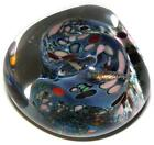 Beautiful Rollin Karg Signed Art Glass 1991 Dichroic Paperweight
