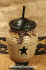 Black Star Mini Butter Churn  Country Home Decor