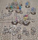 11 pieces 5007 Swarovski Vintage Crystal AB Beads + 6x4mm 25pcs Crystal Spacers