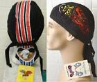 Set of TWO Headwraps SKULL CAP. DO RAG Eagle tail &  Flaming motircycle