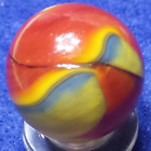 Akro Agate Hybrid Superman shooter rare!!!!!  .793 amazing!! nm