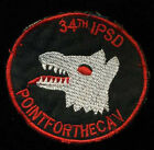 US Army 34th IPSD Point For The Cav K-9 MWD Theater Made Vietnam Patch C-1