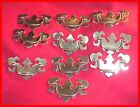 Vintage 10 Matching Brass Chippendale Style Brass Drawer Pulls - LOOK AT PHOTOS