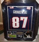 Rob Gronkowski New England Patriots Autographed Signed Framed Jersey XL W Coa
