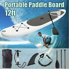 12ft Inflatable Surfing Fin Board Surf Stand Up Paddle Board Wave Rider w Pump