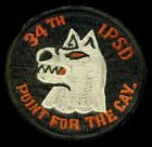 US Army K-9 34th IPSD Cavalry Vietnam V2 Patch S-22