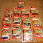 13 CAR LOT MATCHBOX TREASURE INSIDE NISSAN 2 BMW CITY BUS MUSTANG JEEP RESCUE +