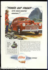 1946 FORD advertisement, Ford sedan in Canada, RCMP Officer