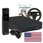 Wii console black Mario Kart Pak + game + official mote Plus US boxed