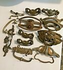 Antique Mixed Lot Drawer Hardware Pulls Handles 13 Total 3 Prs Steampunk Parts