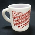Hazel Atlas Milk Glass Southland Forever Dixie Coffee Mug Red