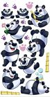 Sticko Rolly Polly Panda Bears Glitter Scrapbooking Stickers Disney Zoo Repeats