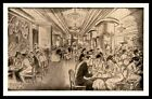 New York city interior Edward Caswel  Ye eat shoppe advertising Postcard
