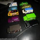 10 MATCHBOX VANS  TRUCKS MINT FORD POLICE SWAT CHEVY SNOW BOARDS AMORED CAR +