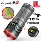 Supwildfire 100000 LM 12X XM-L T6 LED Hunting Flashligt Tactical Torch + 4X18650