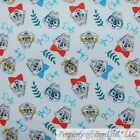 BonEful FABRIC FQ Cotton Quilt White Red Blue Chip N Dale Chipmunk Disney Retro
