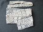 2 Antique crocheted flowers trims edgings  8731i