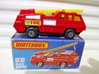 Matchbox 1976 MB22C BLAZE BUSTER Fire Truck YELLOW Ladder WHITE Interior NuBoxed