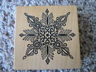 Rubber Stamp PSX G 356 Super Fancy Snowflake Snow Christmas Winter Ornate Star