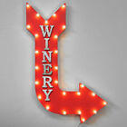 36 WINERY Vineyard Wine Grapes Glass Register Metal Marquee Arrow Light Up Sign
