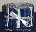 Quilting Fabric Jelly Roll Strips 20 25 Navy Blue White Cotton Quilt Fabric
