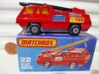 Matchbox 1976 MB22C BLAZE BUSTER Fire Truck with BLACK Ladder New Mint in Box