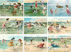 SET OF 9 25X35 SUMMER VINTAGE BEACH 17 GIFT HANG TAGS SCRAPBOOK CARDS