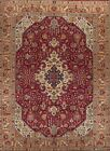 Vintage Geometric Tribal Tabriz Persian Oriental Living Room Area Rug Wool 8x11