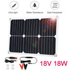 Suaoki 18V 18W Portable Solar Panel Boat Roof RV Motorcycle Car Battery Charger