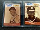 1989 WILLIE McCOVEY / EDDIE MATHEWS Kenner Starting Lineup BASEBALL GREAT CARDS