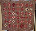 HISTORIC MUSEUM PRE- CIVIL WAR ERA REVERSIBLE PATCHWORK BARS QUILT