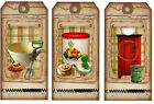 SET OF 12 15X325 FARMHOUSE KITCHEN COOKING SCRAPBOOK CARD HANG GIFT TAGS