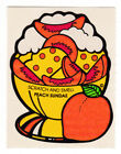 Vintage MELLO SMELLO Scatch and Smell Sniff Stickers PEACH Sundae