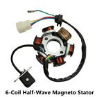 6 Poles 5 Wires Half-Wave Ignition Magneto Stator For GY6 50cc-125cc ATV Bike
