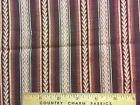 Antique Cotton Fabric mid 1800s Madder Brown Print 8