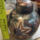 Small   Porcelain Chinese Vase with Flowers and lid urn ? new