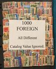 1000 FOREIGN All Different Stamps Off Paper Lot 56