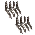 Lot 8 Cast Iron Antique Style Brackets Garden Vintage Rustic Shelf Bracket Brown