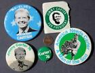 1976-80 Jimmy Carter for President 5-FIVE pin / lapel sticker set -VINTAGE COOL!