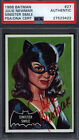 1966 Topps Batman Black #27 Julie Newmar Cat Woman Signed Autograph Auto PSA DNA