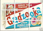 1973 Topps Wacky Packages 1st Series 1 Puzzle Checklist 9 Card Gadzooka Set