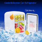 Portable Mini Fridge Cooler Warmer Auto Car Boat Home Office AC DC 12V 4L
