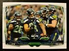 2014 Topps Seattle Seahawks - RARE **ERROR** Non-Printed Card! NO Foil or Name!