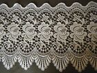 Vtg Schiffli lace of white trim for VALANCE or curtains great design 76