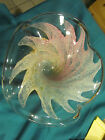Lovely Large Art Glass Bowl Platter Murano Muti Color Pastel 1325 wide  ING